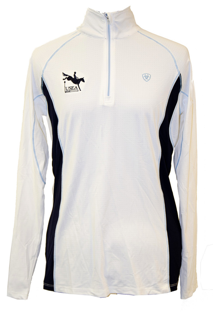 Ariat Tri-Factor 1/4 Zip (Available in Light Blue and White)