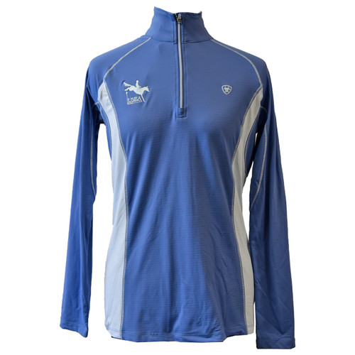 Ariat Tri-Factor 1/4 Zip Blue Saga