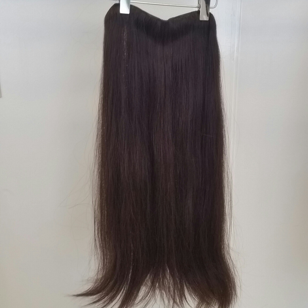 Human Hair Extensions Long Clip In 3 Piece Set 4 Straight Hair