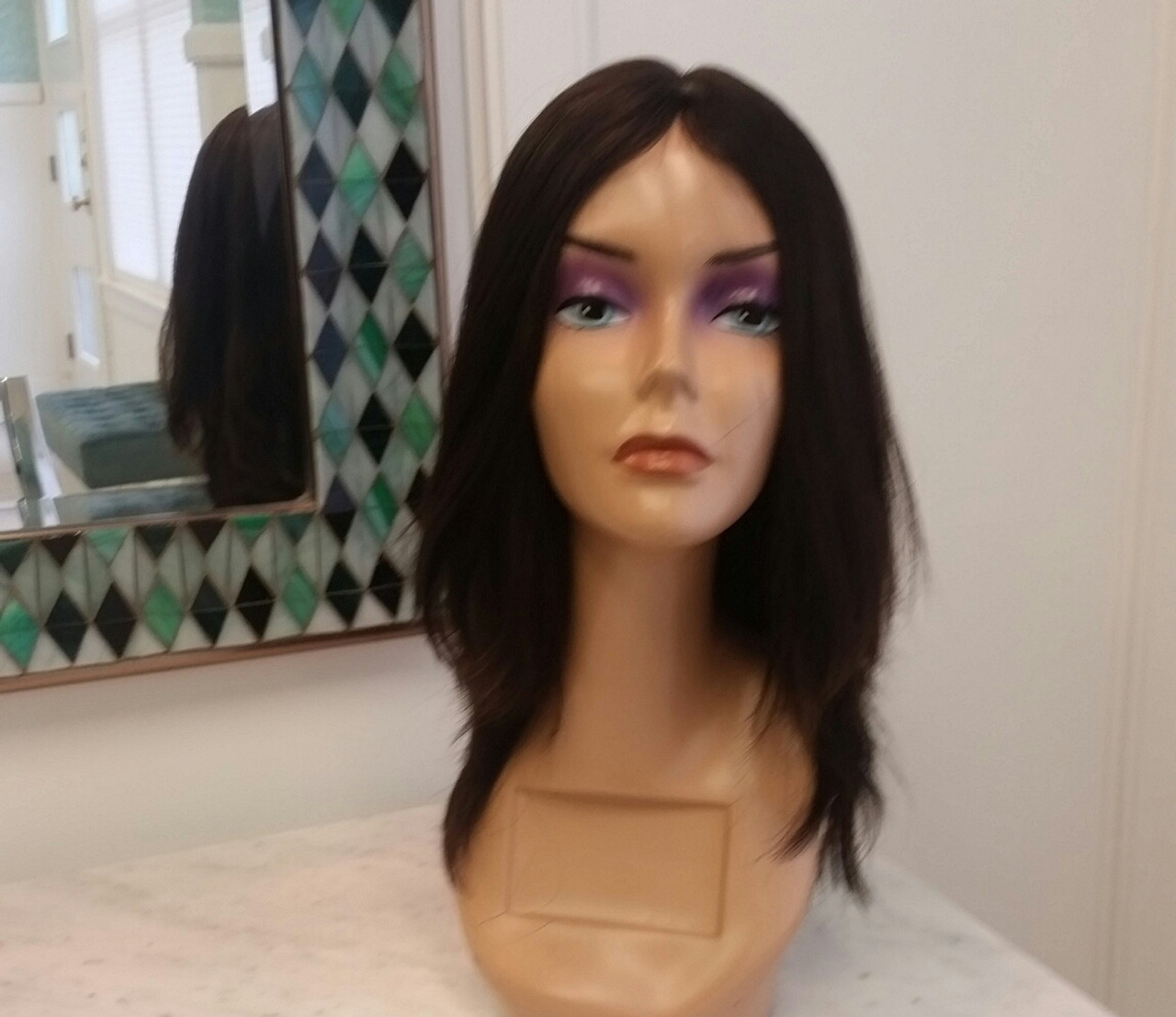 Tuni Wig 100 Virgin European Hair On Top And Asian Hair On The