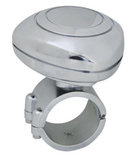 Chrome  Plastic Steering Wheel Spinner (Trucker Steering Wheel )