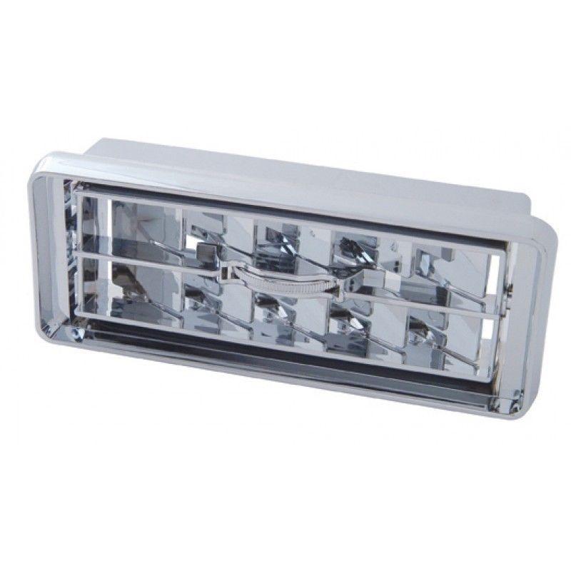 A/C heater vent center chrome plastic center wheel for Kenworth dash