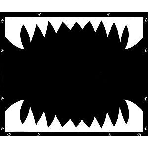 Shark Teeth Bug Screen for Kenworth W900L, Extended Hood