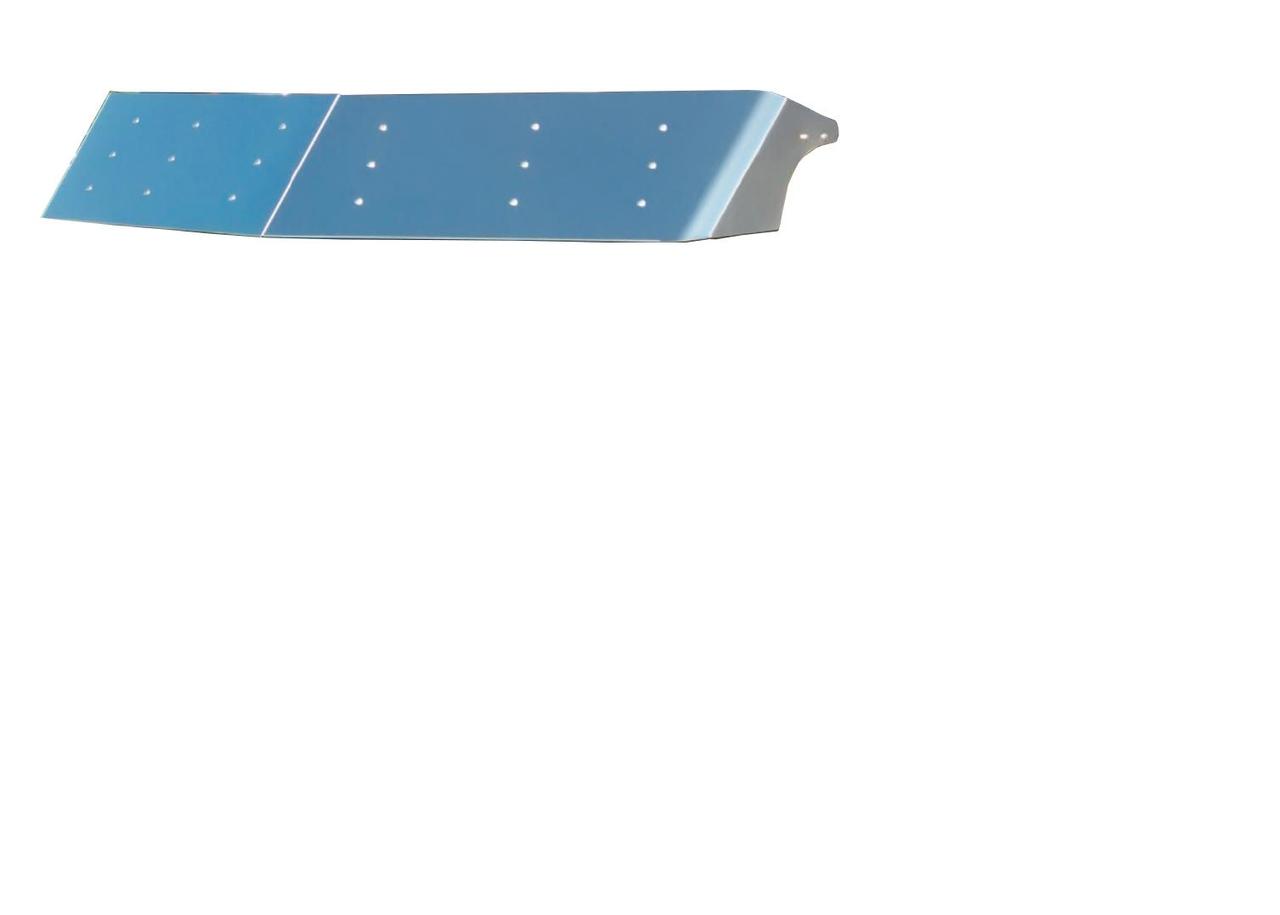 "13.5""  STAINLESS STEEL DROP VISOR - PETERBILT (1988-2005)"