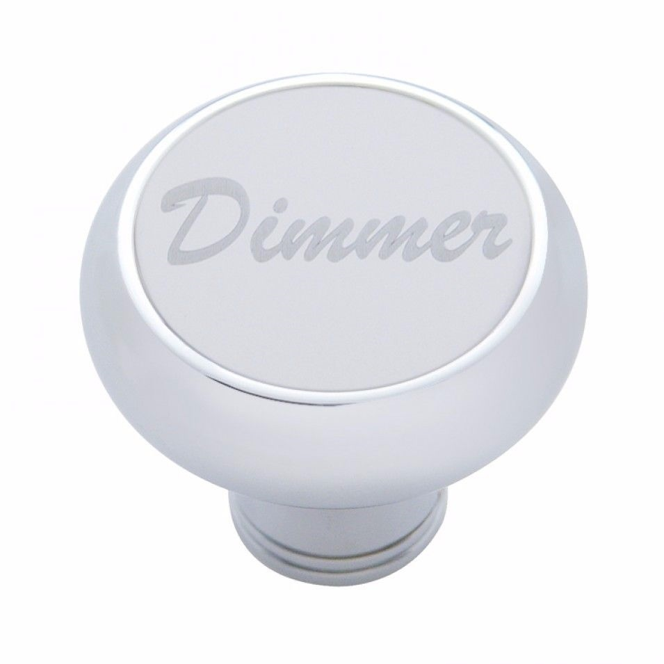 Small Deluxe Dimmer (Chrome) Dash Knob - Stainless Steel Plaque