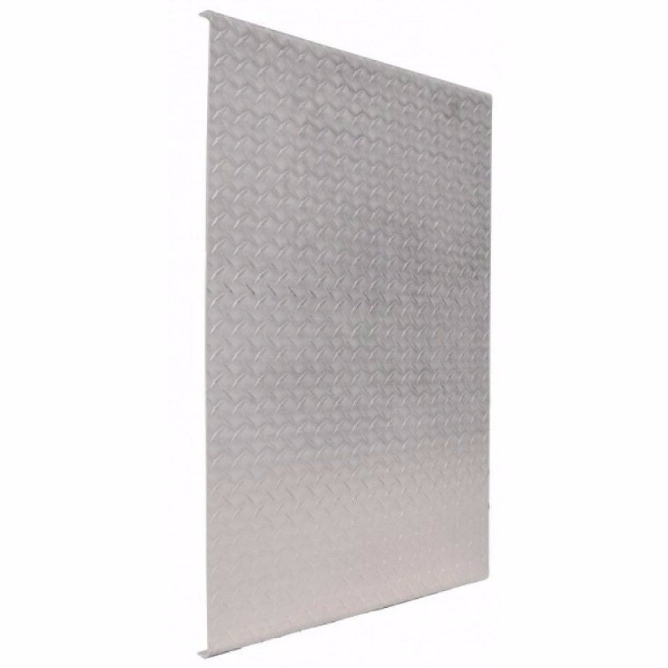 """60"""" x 34 1/2"""" Aluminum Diamond Deck Plate with Reinforced Beams"""