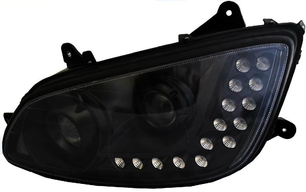 KENWORTH 18 LED BLACK PROJECTOR HEADLIGHT (DRIVER-LH) KENWORTH T660