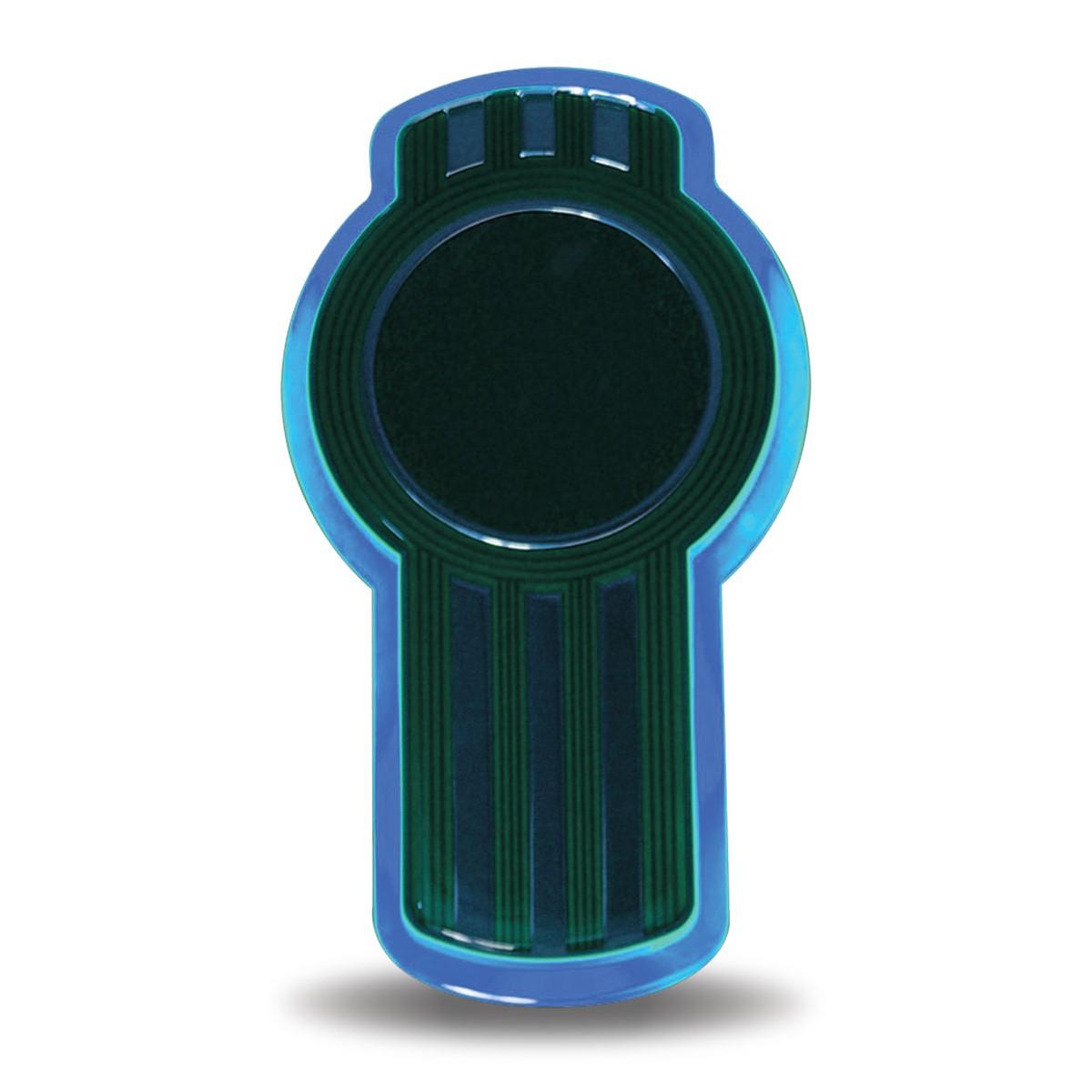 Kenworth hood emblem Blue LED Keyhole light, New Design, Brighter Light