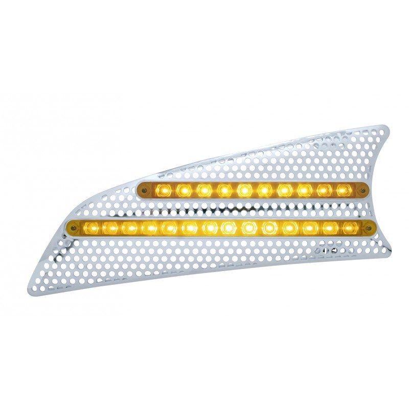 Kenworth T660 LED Air Intake - (Driver) Amber/Clear