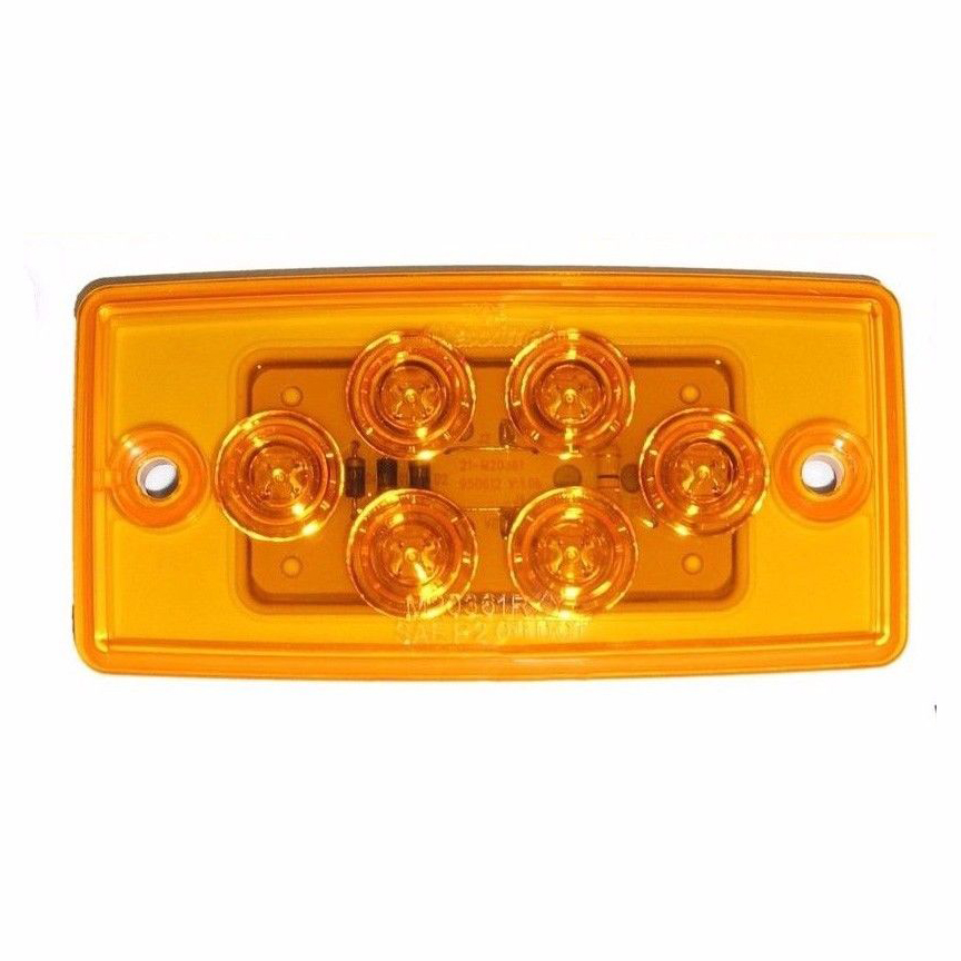 5 Flush Mount Volvo Freightliner Roof Cab Clearance Marker Light Led Amber: Freightliner Cab Light Wiring At Sewuka.co