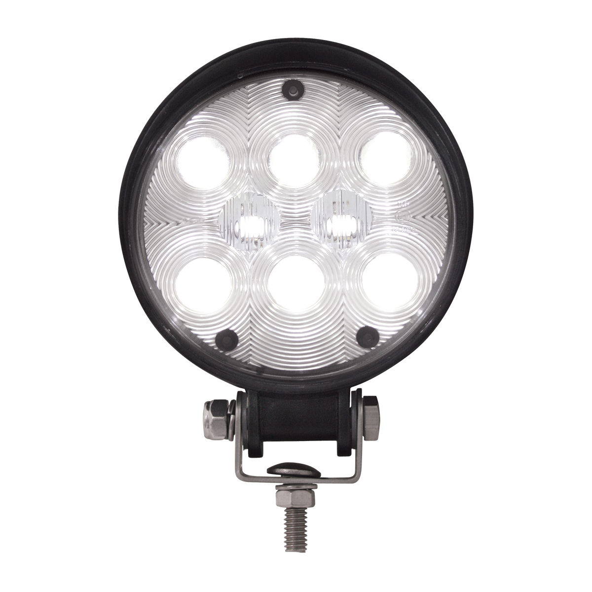 Round (8 LED) WORK LIGHT - High intensity White LED Truck Work Light