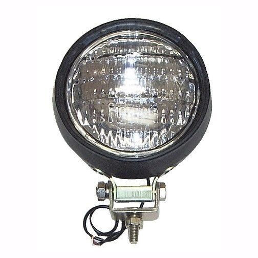"4-1/2"" Work Lights, Round Rubber Housing 12V 35W 4411 Sealed Beam Lamp, Pair"