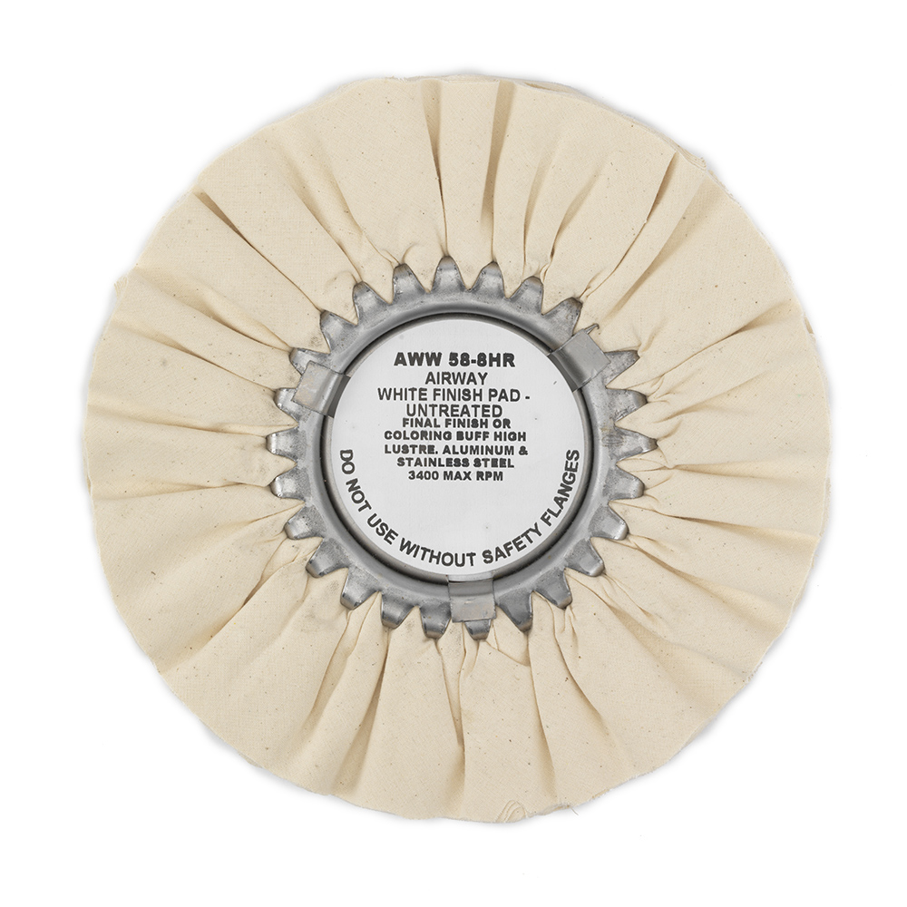 Zephyr Airway White Finish Pad (Untreated) Polishing Wheel, AWW 58-8HR