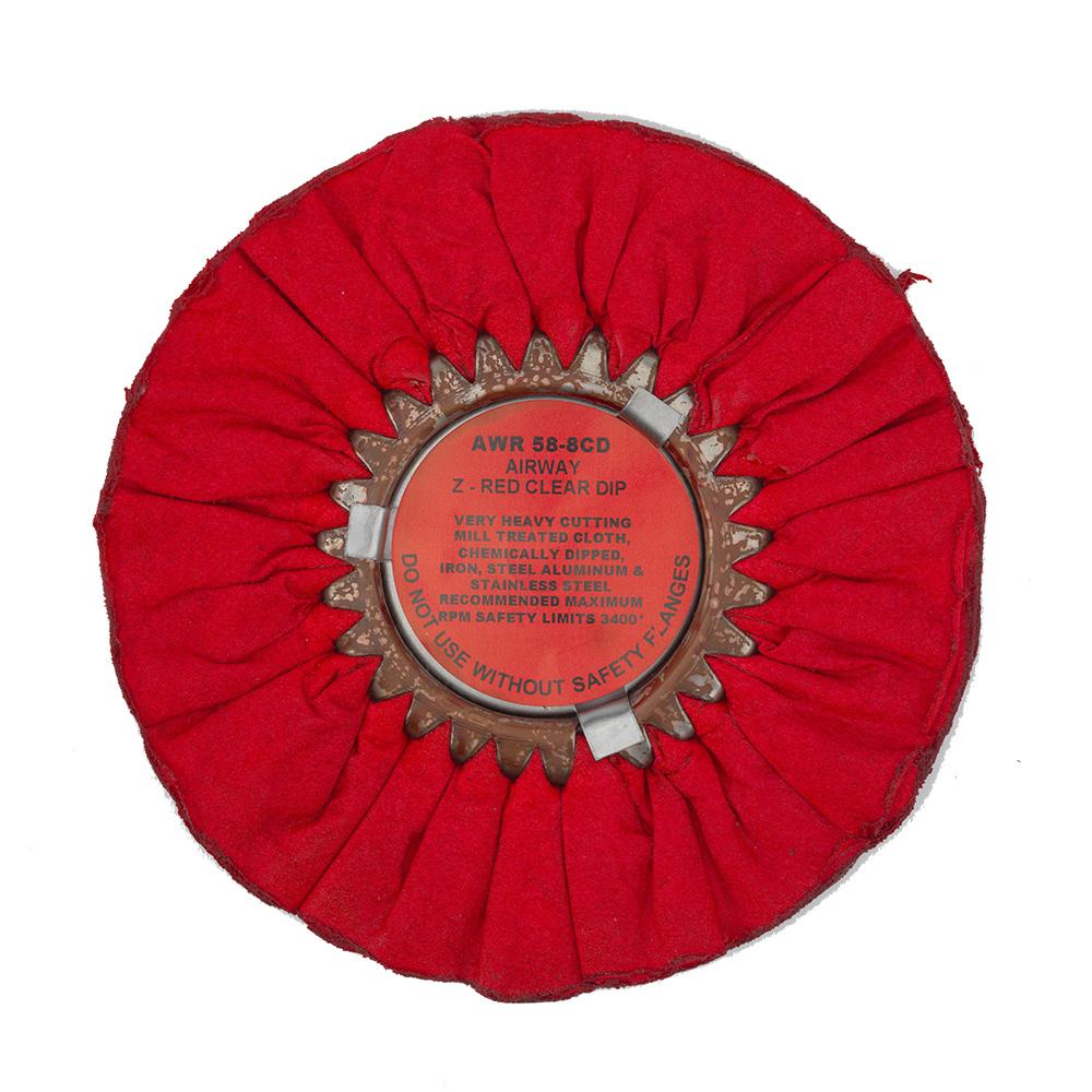 Zephyr Airway Z-Red Clear Dip Polishing Wheel, AWR 58-8CD