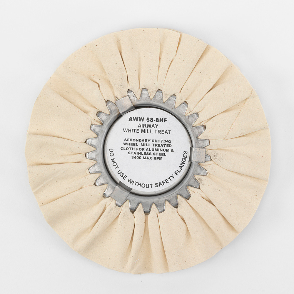 Zephyr Airway White Mill Treat (Untreated) Polishing Wheel AWW 58-8HF