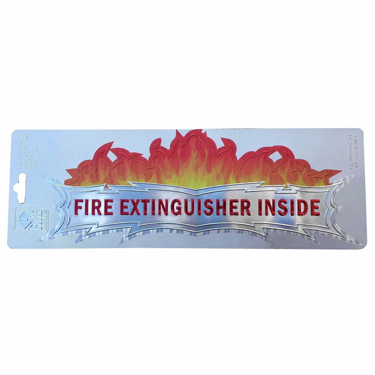 """Fire Extinguisher Inside"" Color Foil Decal, 3""x10"""