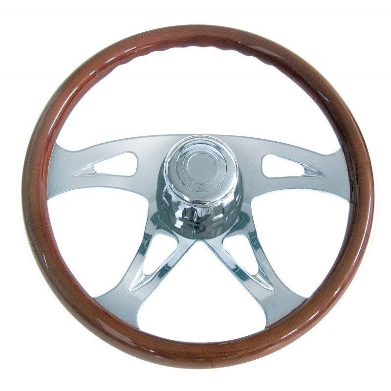 """18"""" Chrome """"Boss"""" Steering Wheel for Peterbilt & Kenworth"""