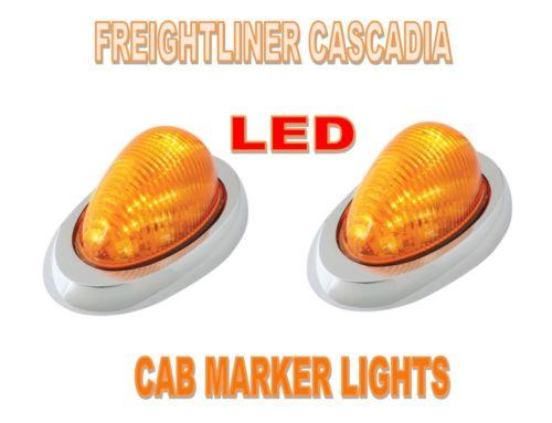 Side Marker/Turn Sealed LED Lights (PAIR) for Freightliner Cascadia