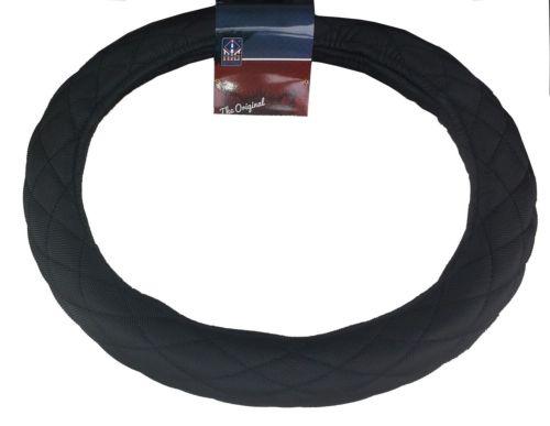 """18"""" Diamond Cushion Black Steering Wheel Cover for Peterbilt Freightliner Semi Truck"""