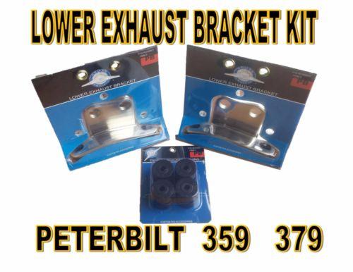 Peterbilt Stainless Steel Lower Exhaust Bracket (KIT) - Peterbilt 359/379
