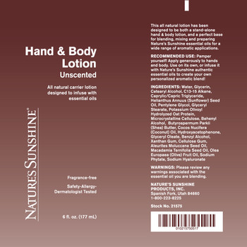 HAND & BODY LOTION (6 oz.)