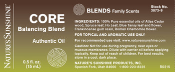 CORE BALANCING ESSENTIAL OIL BLEND (15 ml)