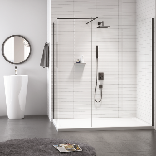 Merlyn Black Showerwall with End Panel