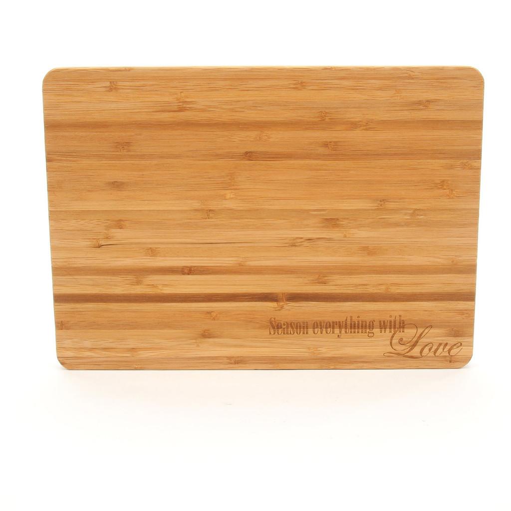 Season Everything with Love - Bamboo Cutting Board