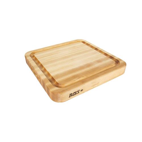 """John Boos Maple Cutting Board with Juice Groove - 18""""x 18""""x 2-1/4"""""""