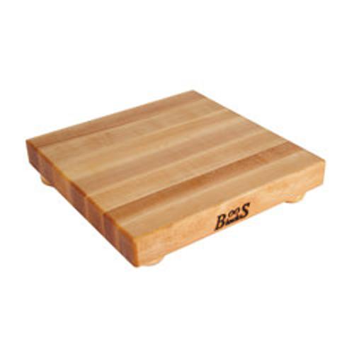 "John Boos Maple Cutting Board - 12""x 12""x 1-1/2"" - with Maple Feet"