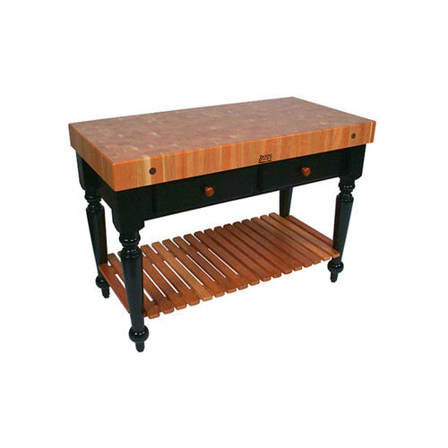 "John Boos Cherry Le Rustica 48"" x 24"" with Shelf"