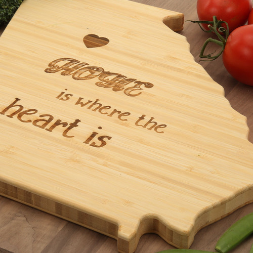 Georgia Board with Home is Where the Heart is