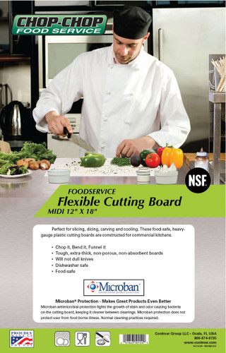 "Chop-Chop Food Service Flexible Cutting Board, Size 12"" x 18"""