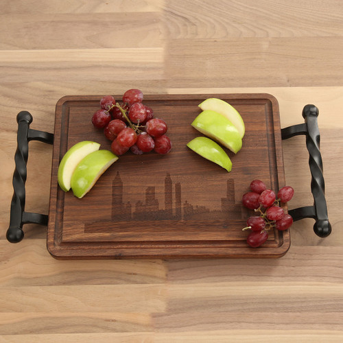 City Skyline Walnut Cutting Board