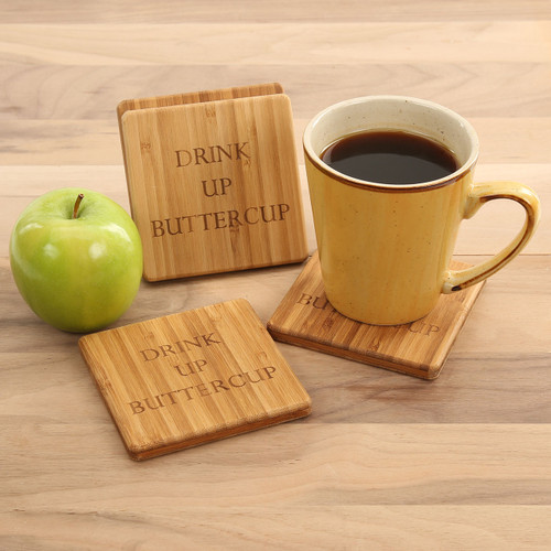 Drink Up Buttercup Coaster Set