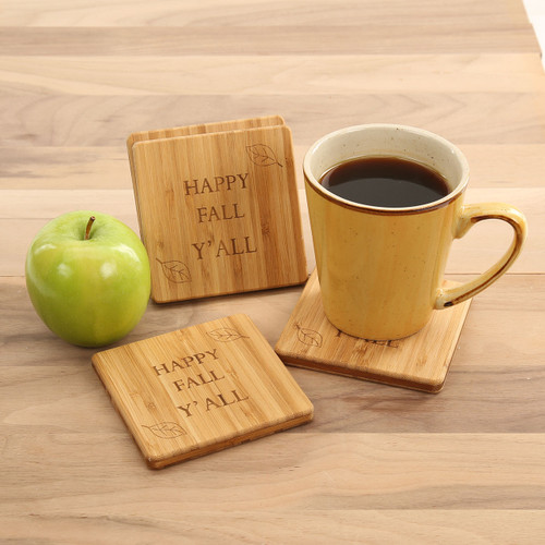 Happy Fall Coaster Set
