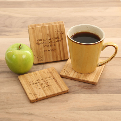 Oscar Wilde Fall Quote Coaster Set
