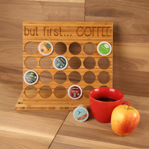 Bamboo K-Cup Holder