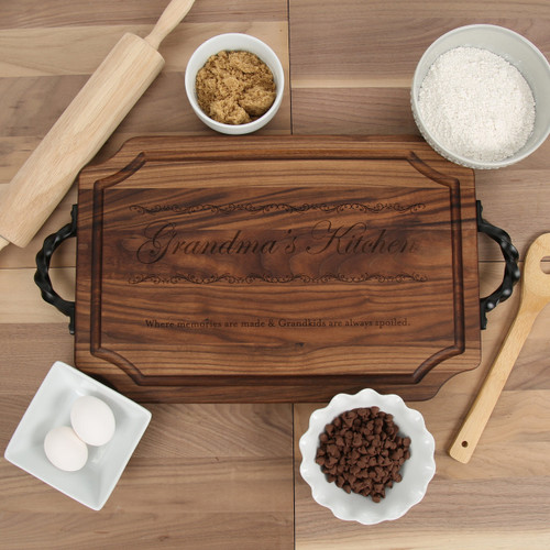 Grandma's Kitchen - Walnut Cutting Board with Handles