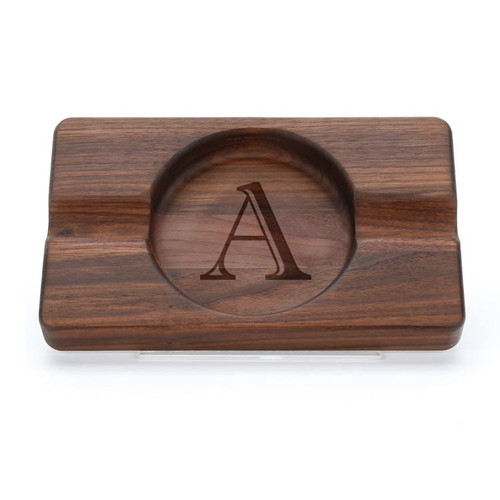 Personalized Walnut Cigar Tray