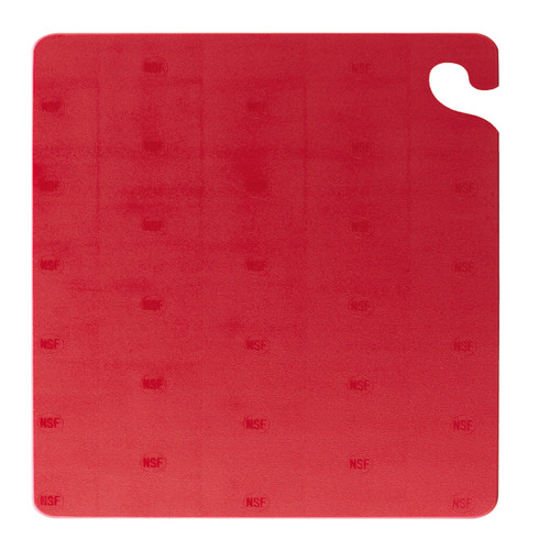 "San Jamar RED Cut-N-Carry Cutting Board 12"" x 18"" x 1/2"""
