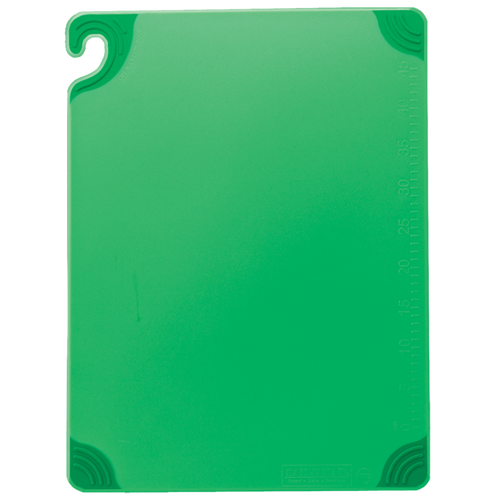 "San Jamar GREEN Saf-T-Grip Cutting Board 15"" x 20"" x 1/2"""