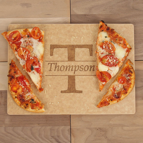 Standard Centered Monogram Engraved Cutting Board