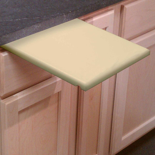 "3/4"" Tan Poly Under Counter Cutting Board - Currently Not In Stock, Taking Back Orders"