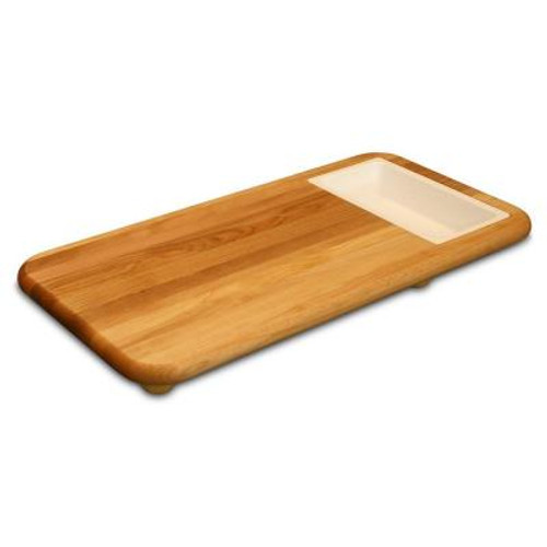 "Catskill Craftsmen Sink Carver Cutting Board with Trays - 24"" x 12"" x 2"""