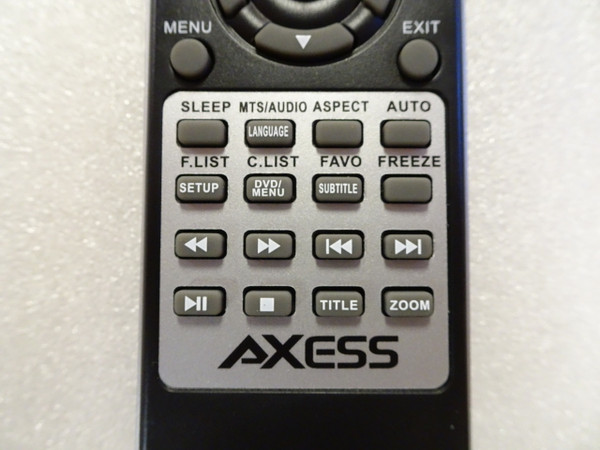 Axess Remote - TVD1701 - For TV's with DVD players - NEW