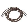 Dress Elastic Shoelace Brown Rolled
