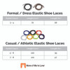 Elastic Shoelaces Chart of Options
