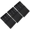 Stretch Elastic Bra Extender 3-Pack Black 3-Hook