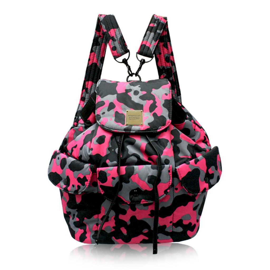 2 way Drawstring Hobo Bag - CAMO CHIC